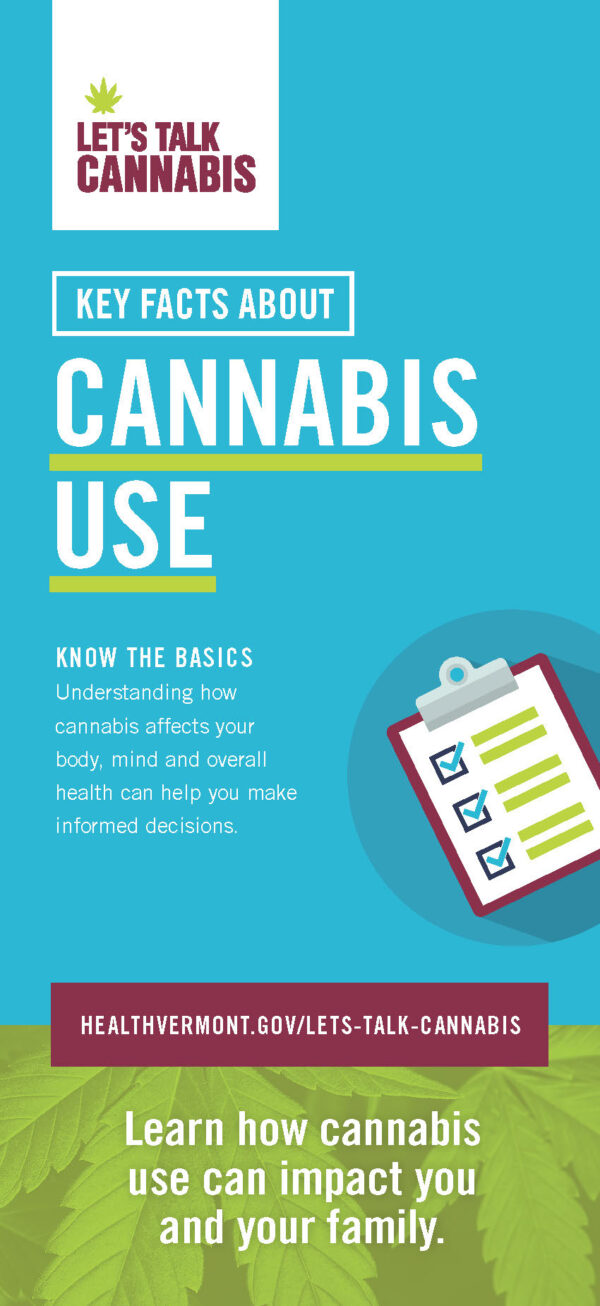 Let's Talk Cannabis Rack Card Image front